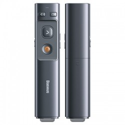 Baseus ACFYB-0G Orange Dot Wireless Presenter Red Laser Grey