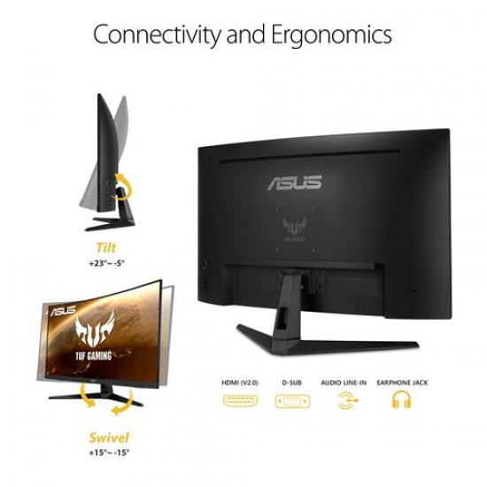 ASUS TUF VG328H1B 32 Inch FHD 165Hz Curved Gaming Monitor