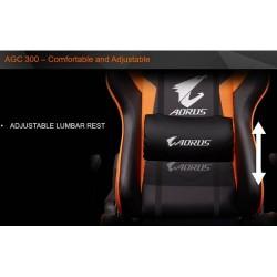 Gigabyte AORUS AGC300 Gaming Chair with Lumbar Cushion & Headrest